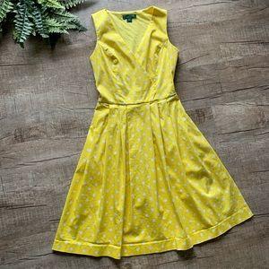 Lauren Ralph Lauren Yellow Polka Dot Dress